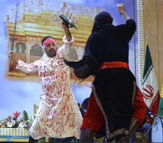 نمایشواره سفیر امام حسین (ع) در تالار شیخ صدوق حرم حضرت عبدالعظیم (ع)