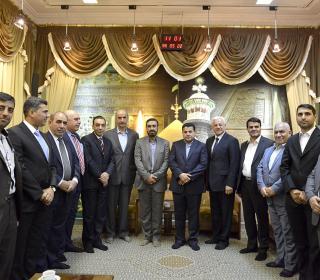 تشرّف وزیر کشور عراق و سفیر عراق و هیئت همراه به آستان مقدس - 96.5.22 - عکاس رستمی