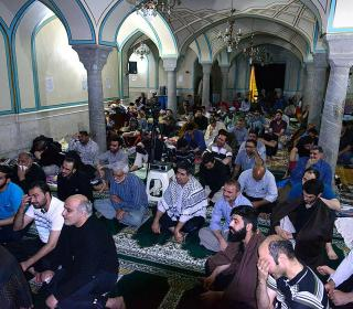 Ceremony of ITIKF( prayer seclusion)  in central mosque of holy shrine -second report-1396