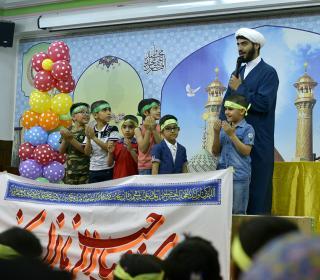 Mahdavi( regarding Emam Mahdi AJ) children's celebration in Holy Shrine. Photo by Sadeghi. 12/5/2017