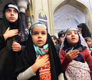 آئین عزاداری کودکان و نونهالان در روز شهادت حضرت فاطمه(س) / عکس: جلال اسدی