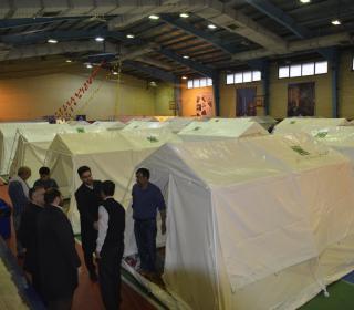 استقبال خادمان حضرت عبدالعظیم حسنی (ع) از مسافران نوروزی