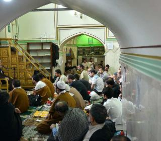 Ceremony of ITIKF( prayer seclusion)  in central mosque of holy shrine -first report-1396