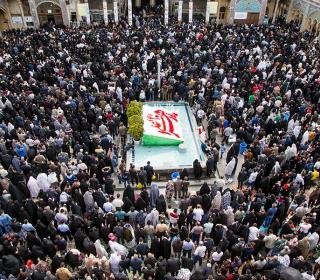 Iranian new year( NOWRUZ) ceremony in holy shrine - 1396 H.Shamsi