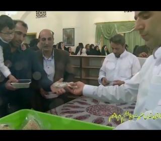 سفره احسان افطاری در حرم حضرت سیدالکریم(ع)