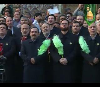 تيزر مراسم تعويض پرچم گنبد حضرت سيدالكريم(ع)