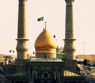 آئین تعویض پرچم گنبد بارگاه ملکوتی حضرت سیدالکریم(ع) در شب وفات آنحضرت/ منتشر شده از خبرگزاری مهر
