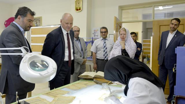 Federal Republic of Germany's Ambassador in Iran Visited Holy Shrine