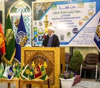 second conference of Islamic worlds holy shrines in Karbala + holy places pligrimage , meetingd and visiting of Ayatollah Mohammadi Rey Shahri