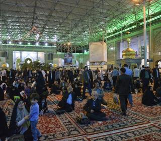 LAILATOl RAGHAYEB ceremony( a night of dreams) in holy shrine