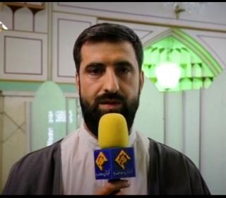 گزارش مراسم نورانی اعتکاف در آستان مقدس پخش شده از شبکه قرآن سیما
